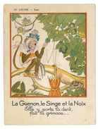GRANDE CHROMO FABLE DE FLORIAN LA GUENON LE SINGE ET LA NOIX AU LOUVRE PARIS - Andere