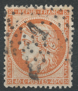 Lot N°33628   Variété/n°38, Oblit étoile Chiffrée 1 De PARIS (Pl De La Bourse), Tache Blanche C De 40C - 1870 Siege Of Paris
