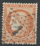 Lot N°33629   N°38, Oblit étoile Chiffrée 1 De PARIS (Pl De La Bourse) - 1870 Siege Of Paris