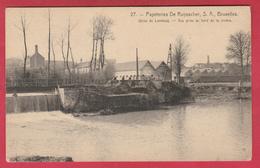 Lembeek / Lembecq - Papeteries De Ruysscher - Usine - Vue Prise Au Bord De La Rivière ( Verso Zien ) - Halle