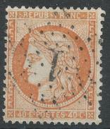 Lot N°33630   Variété/n°38, Oblit étoile Chiffrée 1 De PARIS (Pl De La Bourse), Taches Blanches Face Au Visage - 1870 Siege Of Paris