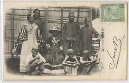 Madagascar - Nossi Bé Indiens Et Femmes Sakalaves 1906  ( 20 ) Cachet Bleu - Madagascar