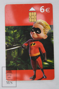 Walt Disney Character From The Incredibles -  Dash, Dashiell Robert, Telefonica Spain Phone Card - Disney