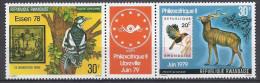 RWANDA 1978 - Faune, Oiseaux, Antilope, Philexafrique 79 Et Essen 78 // PA 12/13 - 2 Val Neuf // Mnh - Poste Aérienne