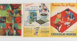 DÉPLIANT NOUVEAU JEU DE PUZZLE CHOCOLAT MENIER N°2 LE PETIT POUCET - Autres Collections