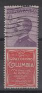 1924-25 Pubblicitari 50 C. Columbia US - 1900-44 Vittorio Emanuele III