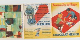 DÉPLIANT NOUVEAU JEU DE PUZZLE CHOCOLAT MENIER N°13 GUARDIANS DE LA CAMARGUE - Autres Collections