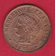 France 1 Centime IIIe République - Cérès - 1897 A - France
