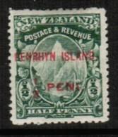 PENRHYN ISLANDS  Scott # 1* VF MINT HINGED - Penrhyn