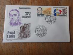ANDORRE ESPAGNOL (1983) Suffrage Universel , Visite De Jacinto Verdaguer - Spanisch Andorra