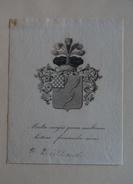 Ex-libris Héraldique, XIXème - TREILHARD - Devise (Multa Magis Quam Multorum Lectione Formenda Mens - Ex-libris