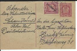 ? 30.4.19 Nach Zürich - Entiers Postaux