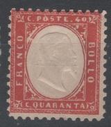 1862 40 C. Rosso Carminio Sassone Nr. 3 MLH - 1861-78 Victor Emmanuel II.
