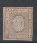 1862 Cifra In Rilievo 2 C. Bistro MLH - 1861-78 Victor Emmanuel II.