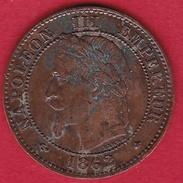 France 1 Centime IIIe Napoléon III Lauré - 1862 A - A. 1 Centime