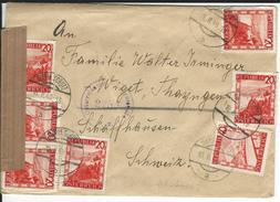Zensurbrief Maria Schutz 18.2.48 Nach Thayngen CH - 1945-.... 2de Republiek