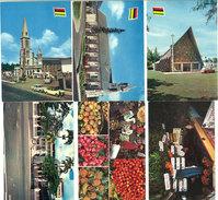 6 Cpsm/Cpm Ile Maurice, Mauritius ( Marchés, églises, Port-Louis, Curepipe )    ((S1575)) - Maurice