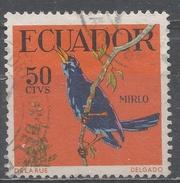 Ecuador 1958. Scott #647 (U) Glossy Cowbird * - Equateur