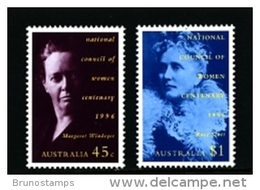 AUSTRALIA - 1996  NATIONAL COUNCIL OF WOMEN  SET MINT NH - Nuovi