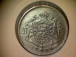 Belgique 20 Francs 1934 VL - 1909-1934: Albert I