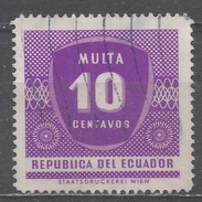 Ecuador 1958. Scott #J18 (U) Numeral Of Value * - Equateur