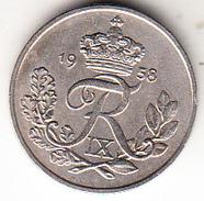 DINAMARCA  1958  10 ÖRE.REY FREDERIK IX     EBC CN4285 - Dinamarca