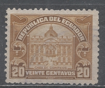 Ecuador 1924. Scott #RA12 (U) Post Office * - Ecuador
