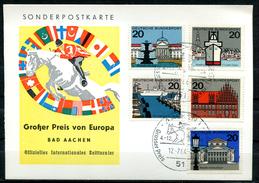 """Germany 1964 Sonderpostkarte Springreiten Mit Mi.Nr.420 U.SST""""Aachen-Großer Preis Von EUROPA,Horses,Pferdesport""""1 Beleg"""