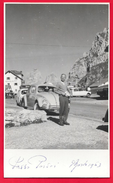 AUTO CAR VOITURE VOLKSWAGEN ???? - FOTO CARTOLINA - PASSO PORDOI - 1963 - Automobiles
