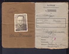 DR Soldbuch / Personalausweis Schütze 19.1.1942 1. Lds Schtz. Ers. Btl. 8 Leobschütz Schlesien Polen Viele Eintragungen - Historische Dokumente