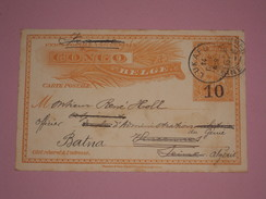 Entier Postal Congo Belge Surcharge 10 Sur 15 Centimes - Oblitération Lukafu 1911 - Stamped Stationery