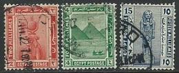 Egypt  1921-2    Sc#63, 65, 71  Better Used   2016 Scott Value $14 - Égypte