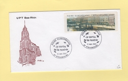Vignette D Affranchissement - Foire Europeenne - Strasbourg - 2003 - Nantes - FDC - 1er Jour - 1999-2009 Vignettes Illustrées