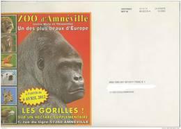 Destineo MD7  M 68 SCCE-A La Poste CI 0292 - Env Illustrée Zoo Amnéville éléphant Lion Ours Rapace Gorille Croco Girafe