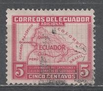 Ecuador 1938. Scott #RA41 (U) Map Of Ecuador ** - Equateur