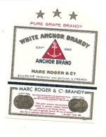 étiquette  - MARC ROGER  White Brandy *- - Whisky