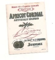 étiquette  - étiquette Pour Mignonette - Apricot Cordial - Etiquettes