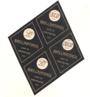 étiquette   - Brillantinol - Brillantine - Par 4 - - Produits De Beauté