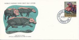 Guinea FDC 12-12-1977 WWF World Wildlife Fund With Cachet - Guinea (1958-...)