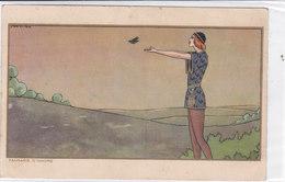 CARD SCATTINA  FANTASIE D'AMORE GIOVINETTO RINASCIMENTALE LIBERA COLOMBA  -FP- VSF-2-0882-26494 - Otros Ilustradores