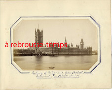 England-LONDRES-photographie Ancienne-le Parlement Vu De Lambeth-non Collée - Photographs