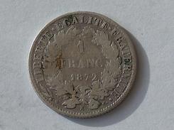 FRANCE 1 Franc 1872 K  - Silver, Argent - France