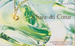 Télécarte Japon / 110-011 - PARFUM SHISEIDO * CHANT DU COEUR * / EDOUARD FLECHIER FRANCE - PERFUME Japan Phonecard - 246 - Parfum