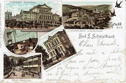 BAD SCHWALBACH-1899-GRUSS AUS-BAHNPOST COBLENZ-GIESSEN-Marcophilie-stamps - Bad Schwalbach