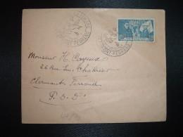 LETTRE TP HOSTEL DIEU DE BEAUNE 4F OBL.10 OCTOBRE 1943 CLERMONT-FERRAND JOURNEE DU TIMBRE (63 PUY DE DOME) - Stamp's Day