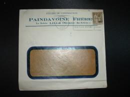 LETTRE TP PAIX 1F25 Surchargé 50c OBL.MEC.18 XII 1934 LILLE RP NORD (59) ATELIERS DE CONSTRUCTION PAINDAVOINE FRERES - Marcofilie (Brieven)