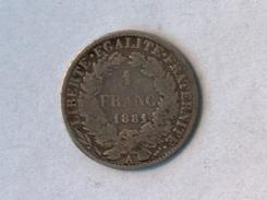 FRANCE 1 Franc 1881 A  - Silver, Argent - France