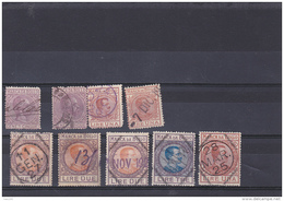 #126   OLD REVENUE STAMPS,  9  STAMPS, ITALY. - Italy