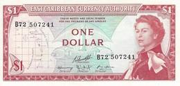 EAST CARIBBEAN STATES 1 DOLLAR ND (1974) P-13g UNC- S/N B72 507241 [ECS101c10] - East Carribeans