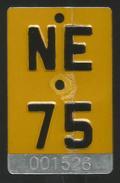Velonummer Mofanummer Neuenburg NE 75 - Plaques D'immatriculation